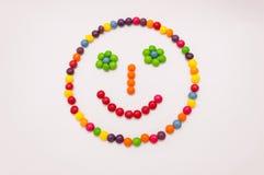 Emoticon di Candy su fondo bianco Immagini Stock Libere da Diritti