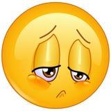 Emoticon di dispiacere Fotografia Stock
