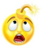 Emoticon di Emoji della bomba royalty illustrazione gratis