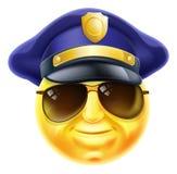 Emoticon di Emoji della polizia Fotografia Stock Libera da Diritti