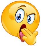 Emoticon di gesto del vomito Fotografie Stock Libere da Diritti
