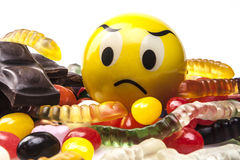 Emoticon Dislike Sweets Royalty Free Stock Photo
