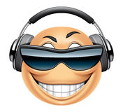 Emoticon dj Stock Photos