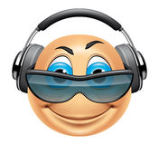 Emoticon dj Stock Photo