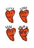 Emoticon do coração Imagem de Stock Royalty Free