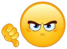Emoticon do desagrado ilustração stock