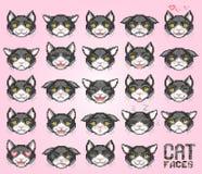 Emoticon do gato, vetor Foto de Stock Royalty Free