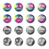 Emoticon do sorriso Fotografia de Stock Royalty Free