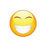 Emoticon do sorriso com dentes grandes Fotos de Stock