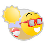 Emoticon do verão Foto de Stock Royalty Free