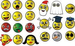 Emoticon do vetor Fotografia de Stock