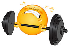 Emoticon do Weightlifter Fotos de Stock