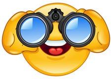 Emoticon dos binóculos Foto de Stock Royalty Free