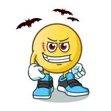 Emoticon dracula vector cartoon illustration. This is an original character Royalty Free Stock Images