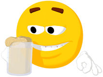 Emoticon Drinking Stock Image