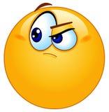 Emoticon dudoso Fotografía de archivo libre de regalías