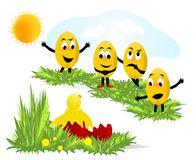 Emoticon eggs, cdr vector Stock Photo