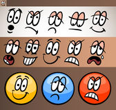 Emoticon elements set cartoon illustration Stock Photo