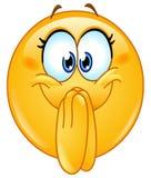 Emoticon emocionado Imagenes de archivo