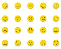 Emoticon and Emoji Isolated Vector icons pack that can be easily modified or Edit in any Color stock illustration