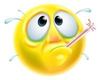 Emoticon enfermo enfermo Emoji Imagenes de archivo