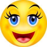 Emoticon engraçado do sorriso Imagens de Stock Royalty Free