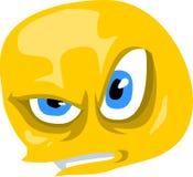 Emoticon enojado Imagen de archivo