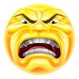 Emoticon enojado de Emoji Imagen de archivo libre de regalías