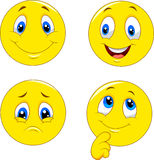 Emoticon face expressions. Illustration of emoticon face expressions Royalty Free Stock Photo