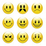 Emoticon faces Stock Images