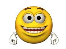 Emoticon feliz Fotos de Stock Royalty Free
