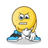 Emoticon after fight mascot vector cartoon illustration. This is an original character Stock Images