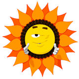 Emoticon Flower Royalty Free Stock Photo