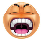 Emoticon furious Royalty Free Stock Photography