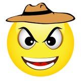 Emoticon giallo del cowboy Fotografia Stock Libera da Diritti