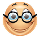 Emoticon glasses Royalty Free Stock Photo