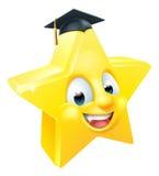 Emoticon graduado de Emoji de la estrella Imagenes de archivo