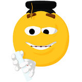 Emoticon Graduation Royalty Free Stock Photos