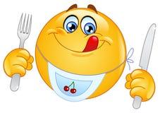 Emoticon hambriento Fotografía de archivo libre de regalías