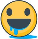 Emoticon hambriento aislado Emoticon del vector ilustración del vector