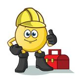 Emoticon handy man vector cartoon illustration. This is an original character Stock Images