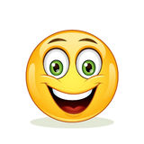 Emoticon with happy face. Stock Photography