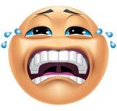 Emoticon het schreeuwen vector illustratie