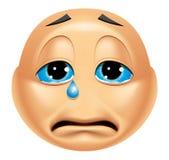 Emoticon het schreeuwen stock illustratie