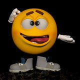 Crazy. An emoticon in his pose and expression Stock Photo