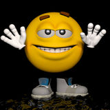 Easy fella. An emoticon in his pose and expression Stock Photography