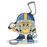 Emoticon hockey mascot vector cartoon illustration. This is an original character Royalty Free Stock Photos