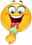 Emoticon with ice cream Stock Photo