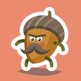 Emoticon Icon Cheeky Nut Stock Image