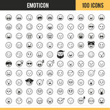 Emoticon icon. Vector illustration. Stock Photos